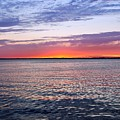 Sunset On Barnegat Bay I - Jersey Shore by Angie Tirado