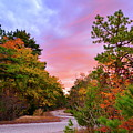 Sunset On Bombing Run Road by Jim Cook
