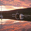 Sunset On Caledonian Canal by Laurence Northcote