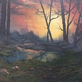 Sunset On Cannock Chase  by Jean Walker