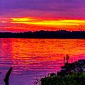 Sunset On Crab Orchard by Jeff Kurtz