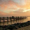 Sunset On Dewey Bay by Trish Tritz