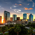 Sunset On Downtown Tampa by Karl Greeson