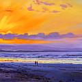 Sunset On Enniscrone Beach County Sligo by Conor McGuire