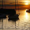 Sunset On Fisherrow by Nik Watt