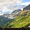 Sunset On Going To The Sun Road by Rebecca Wineka