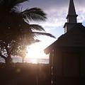 Sunset On Kona Church  by Nelda Mays