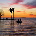 Sunset On Lake Dora At Mount Dora Florida by William Kuta