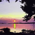 Sunset On Lake Dora by Judy Swerlick