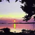 Sunset On Lake Dora by Judy Swerlick