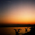 Sunset On Lake Geneva by Catt Kyriacou