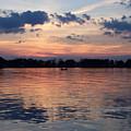 Sunset On Lake Mattoon by Kathy McClure