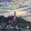 Sunset On Lake Shore Mississauga by Ylli Haruni