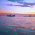 Sunset On Manila Bay by Rusty R Smith