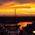 Sunset On Morro Bay by Kathleen Moore Lutz