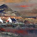 Sunset On Mount Errigal, Dunegal by Val Byrne