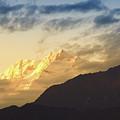 Sunset On Mount Kanchenjugha At Dusk Sikkim by Rudra Narayan Mitra