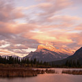 Sunset On Mount Rundle by Alex Lapidus