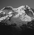 1m4876-bw-sunset On Mt. Rainier Bw  by Ed  Cooper Photography