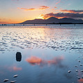 Sunset On New Year's Day Tyrella Beach by Glen Sumner