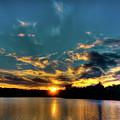 Sunset On Nicks Lake by David Patterson