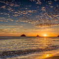 Sunset On Playa Danta by Rikk Flohr