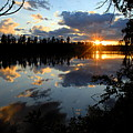 Sunset On Polly Lake by Larry Ricker