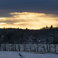 Sunset On Sabattus Lake by Jan Mulherin