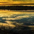 Sunset On Standing Bear Lake by Edward Peterson