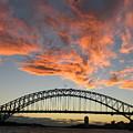 Sunset On Sydney Harbor by Robert M Brown II