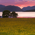 Sunset On The Ardgour Mountains by John McKinlay
