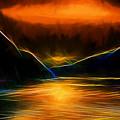 Sunset On The Bay by John Haldane