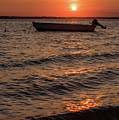 Sunset On The Bay Lavallette New Jersey  by Terry DeLuco