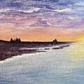 Sunset On The Beach by Julie Jones