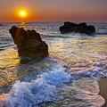 Sunset On The Beach by Sandra Rugina
