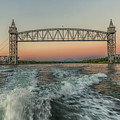 Sunset On The Cape Cod Canal Bridges by Brian MacLean