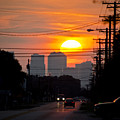 Sunset On The City by Carolyn Marshall