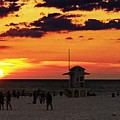 Sunset On The Clearwater Beach by Alfred Blaho