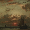 Sunset On The Coast by Jules Dupre