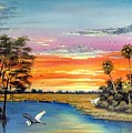 Sunset On The Glades by Riley Geddings
