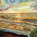 Sunset On The Great Sea. by Shlomo Zangilevitch