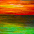 Sunset On The Gulf by Brad Mullins