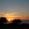 Sunset On The Gulf Of Mexico by Nancy Hopkins