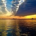 Sunset On The Hudson 03 New York by Debra Banks