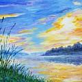 Sunset On The Lake by Olga Malamud-Pavlovich