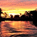 Sunset On The Murray River by Yolanda Caporn