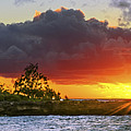 Sunset On The North Shore Of Oahu by Aloha Art