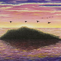 Sunset On The Pacific by Mary Ann King