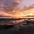 Sunset On The Rocks by Tor-Ivar Naess