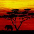 Sunset On The Serengeti by Michael Vigliotti